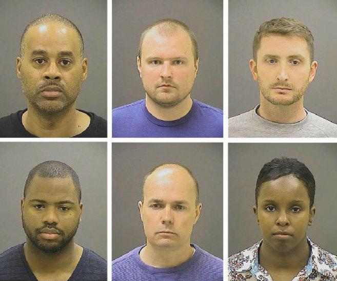Cargos contra policías de Baltimore por muerte de Gray