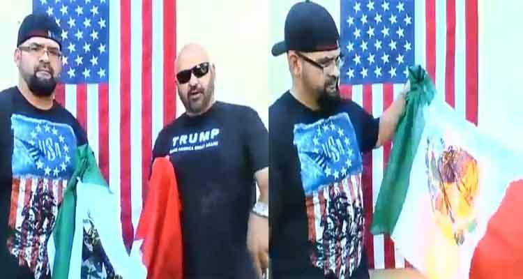 Video Mexicoamericanos Queman Bandera Nacional En Apoyo A Donald