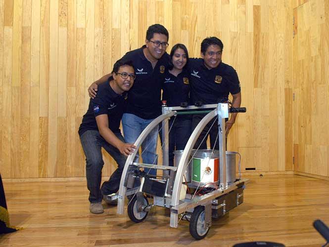 Mexicanos ganan premio de la NASA por robot para misión a Marte