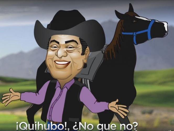 'El Bronco' presenta sus logros del primer año con caricatura