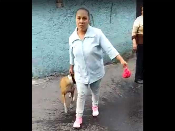 (Video) Pitbull mata a otro perro y su dueña amenaza a vecinos