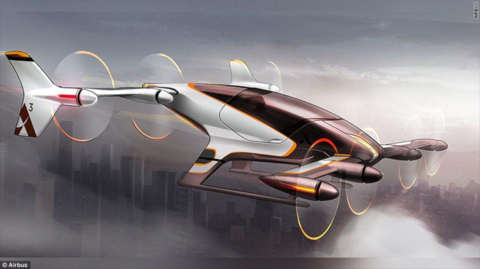 Vahana, el taxi aéreo del futuro