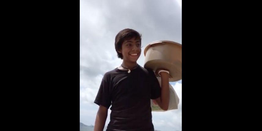 (Video) Francisco, el niño mexicano que conquistó a las redes por su manera de vender empanadas