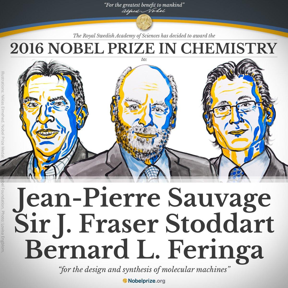 Pioneros de nanotecnología molecular, ganadores del Nobel de Química