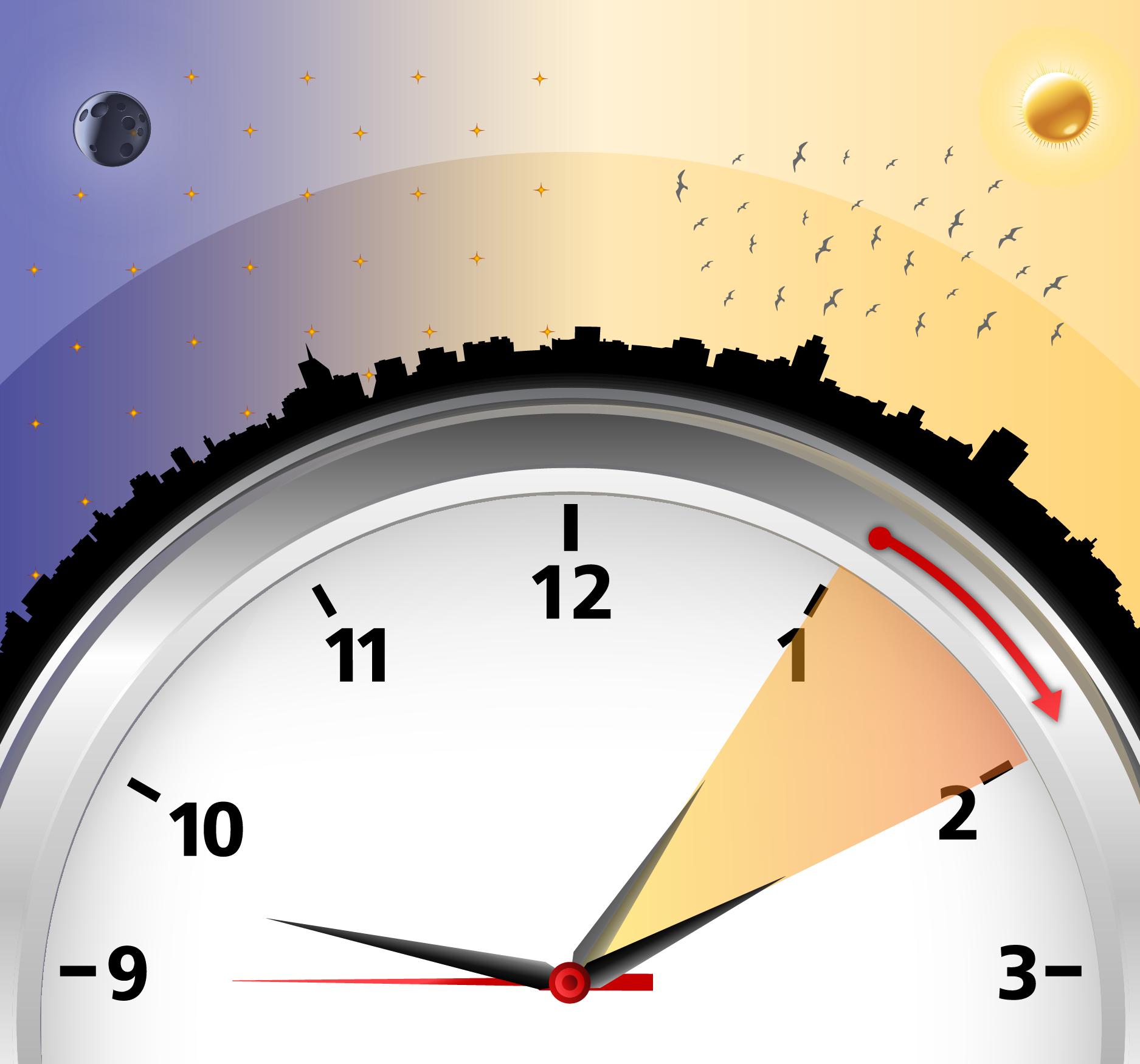 El 30 de octubre termina el horario de verano