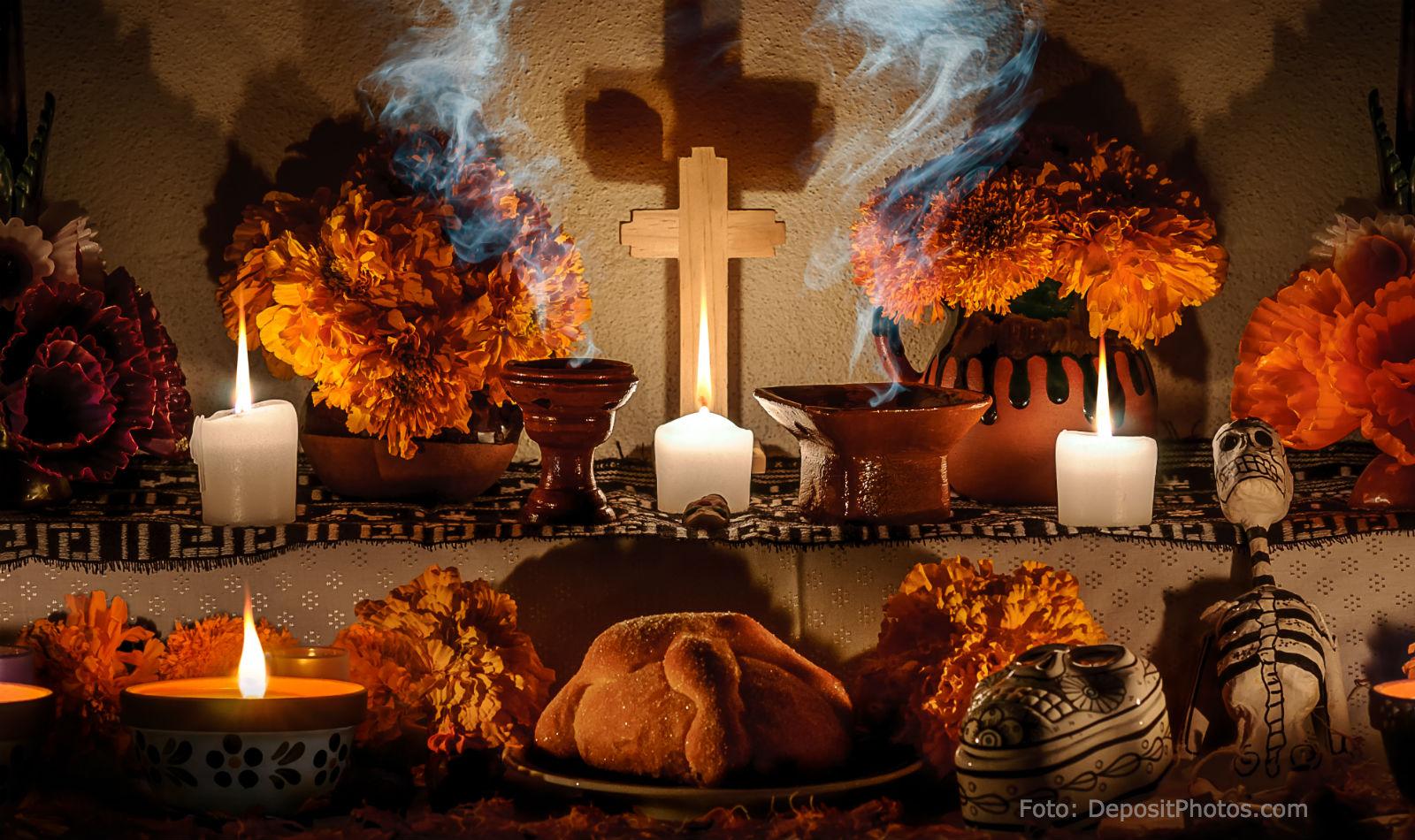 El altar u ofrenda, elemento central de la tradición del Día de Muertos