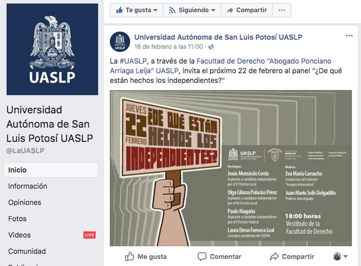 Deslindan al rector de cancelación de foro político en la UASLP