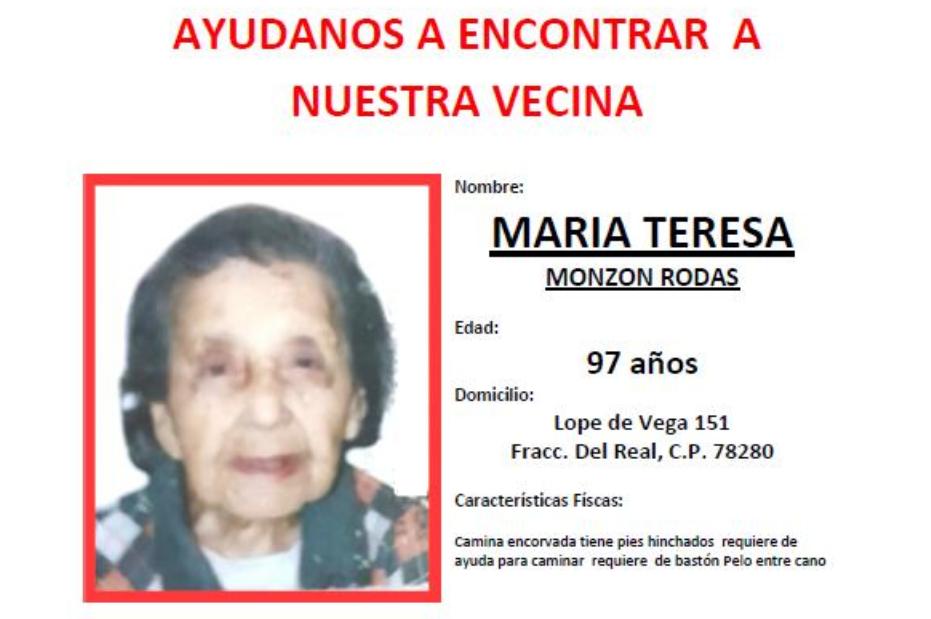 Tras detectar movimientos extraños en su cuenta bancaria, desaparece mujer de 97 años; sus vecinos la buscan