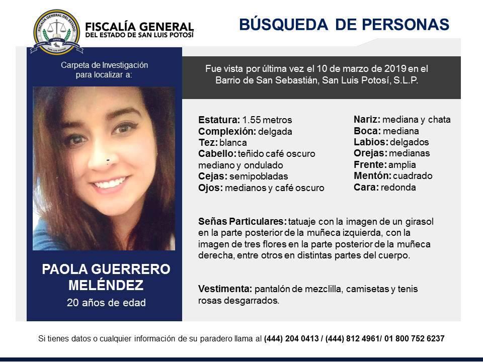 Buscan a joven que desapareció en Barrio de San Sebastián