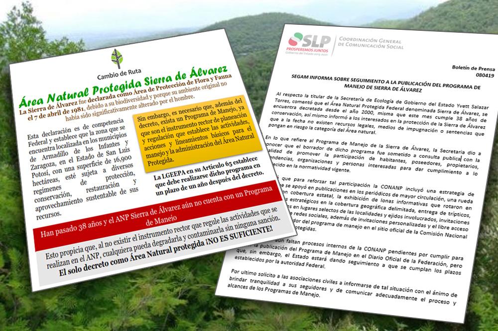 SEGAM: No hay problemas en Sierra de Álvarez; Cambio de Ruta: desinterés de autoridades la pone en riesgo