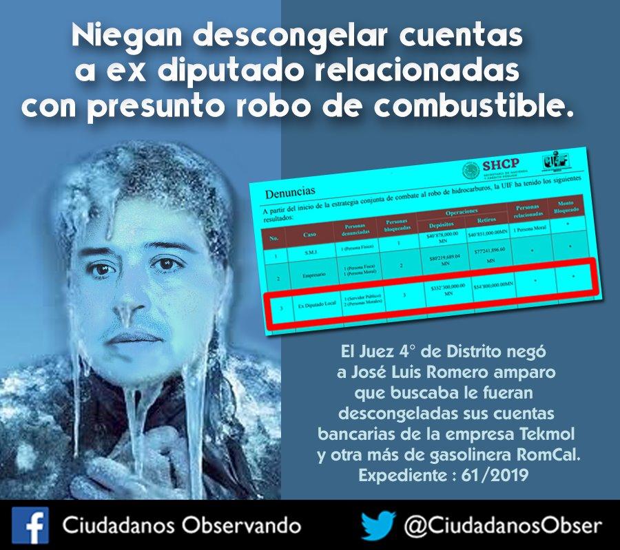 Le niegan amparo a Romero Calzada para descongelar sus cuentas; es buena señal, considera Ciudadanos Observando