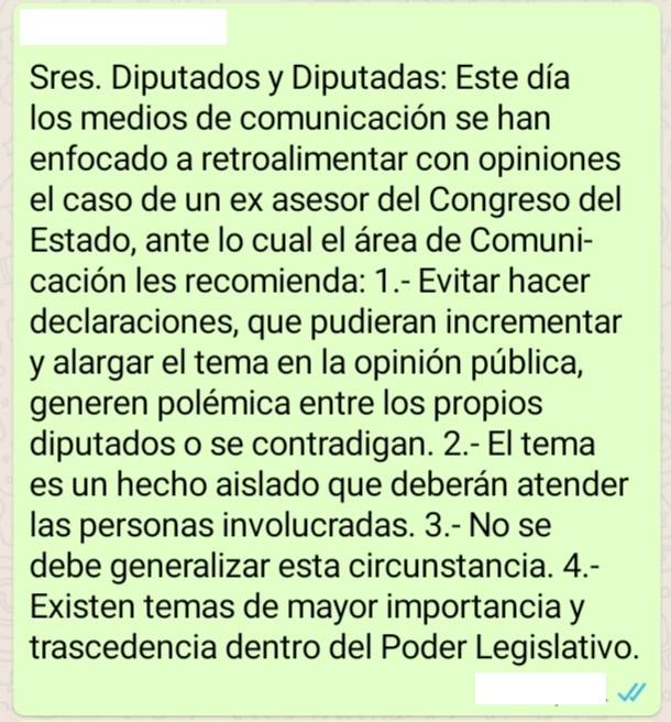 Comunicación Social del Congreso pide a diputados evitar declaraciones sobre moches