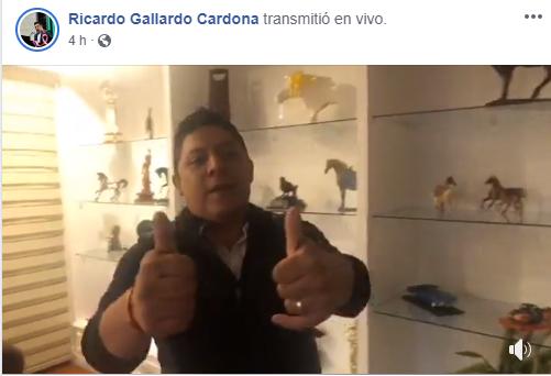 Titubeo sin gallardía, en transmisión en Facebook (video)