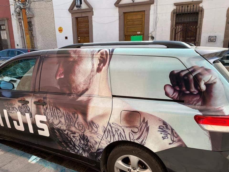 Pintura en su camioneta no es propaganda política, asegura 'El Mijis'