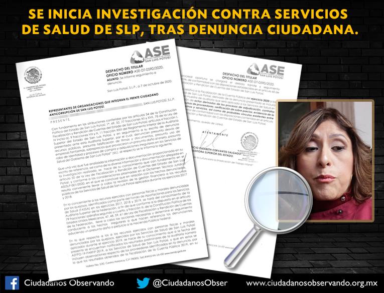 Acepta ASE denuncia contra los Servicios de Salud; ya programó la investigación
