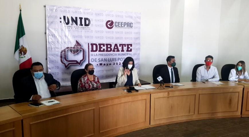 Definen orden de participación en debate de candidatos a la alcaldía de SLP